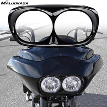 MALUOKASA Motorbike Headlight Daymaker Bezel For Bad Boy Harley Road Glide 1998-2013 Motorcycle Outer Fairing Lamp Housing Cover(China)