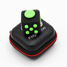 3.3cm Fun Set Fidget Cube PVC Desk Finger Toy Squeeze Stress Reliever Glide Flip Spin Spinner Box For Kids Adults ZG008