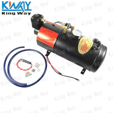 FREE SHIPPING-King Way-Horn Air Compressor with 3 Liter Tank for Air Horn Train Truck RV Pickup 125 PSI