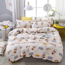 3/4pcs/Set Cartoon Cola Kids Bedding Set Student Dormitory Bed Linen Linings Cotton Duvet Cover Set Home Textile(China)