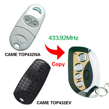 433.92 Mhz Duplicator Copy CAME remote control CAME TOP 432EV TOP432NA With Battery For Universal Garage Door Gate Key Fob(China)