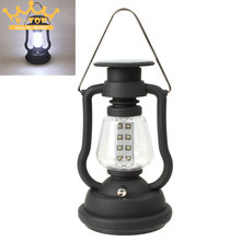 Solar Panel LED Camping Light Outdoor Hand Crank Dynamo LED Camping Lantern Lamp with 16 LEDs