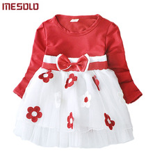 Cute Baby Girl Dress Cotton Children Kids Baby Girls Dresses One Piece Baby Autumn Clothing For School Casual Wear Clothes Girl(China)