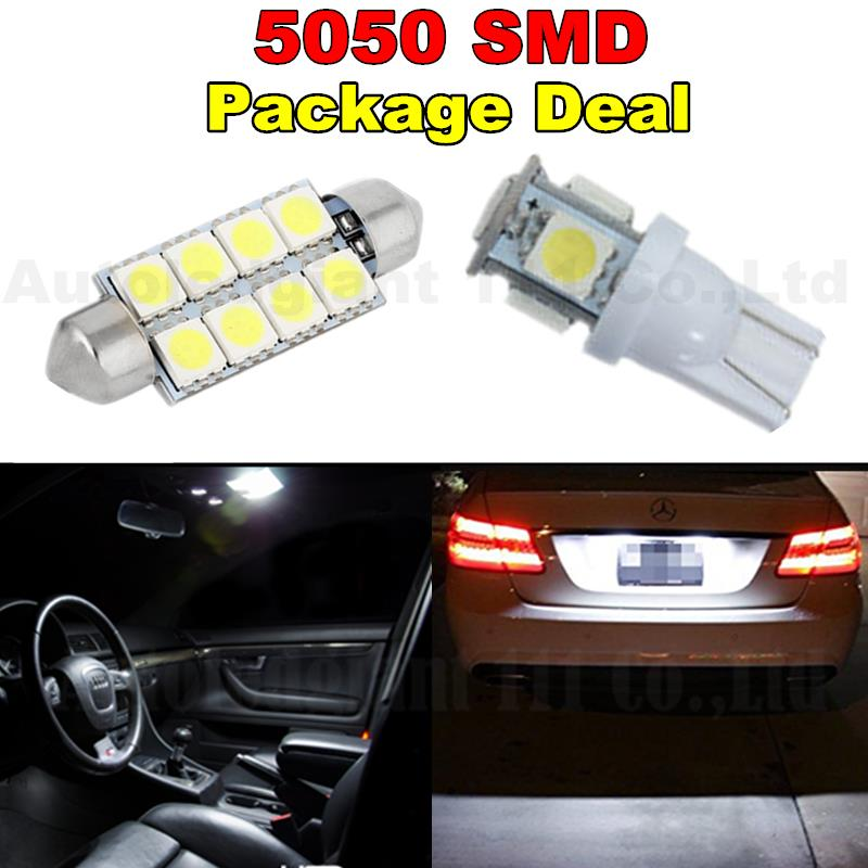 6xWhite 41MM T10 W5W Led For Map Dome Licence Plate Light Package For Ford E-150 E-250 Escape Taurus Explorer Taurus<br><br>Aliexpress