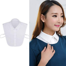 Hot Women False Detachable Collar Shirt Blouse Top Collapsible Fake Collars Small Lapel Clothes Accessories Black/White