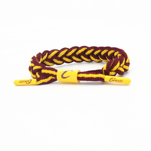3pcs new arrival basketball team logo power bracelet size adjustable balance wristband cotton rope energy bangle(China)