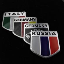 car-styling Car flags aluminum stickers For VW Polo Ford Kuga Chevrolet Cruze Peugeot Toyota Rav4/Corolla Opel Mokk
