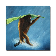 Funny Monkey  Painting  for Living Room Decor No Framed and With Framed  Cheap Modern Animal Oil Painting Wall Design