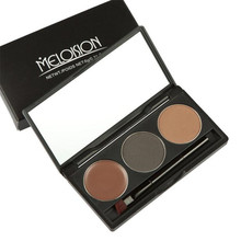 MELOSION Makeup 3 Colors Eyebrow Powder Concealer Palette With Mirror Eyebrow Brush best seller #30