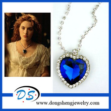 2 color HEART OF THE OCEAN BLUE TITANIC STYLE NECKLACE STUNNING STATEMENT NECKLACE 12pc/lot