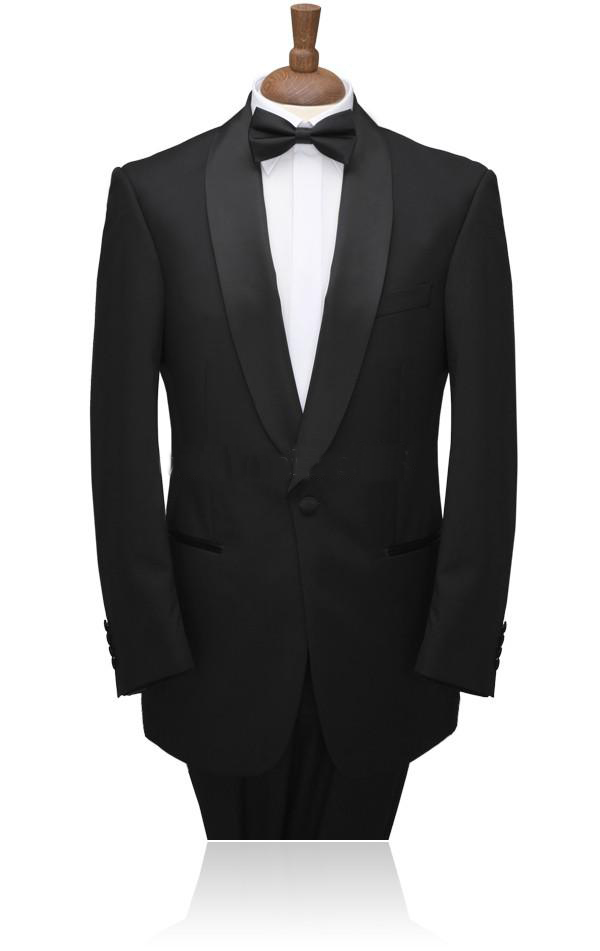 Single-Breasted Customize Groom Tuxedos Shawl Lapel Best Man Suits/wedding Men Blazer(Jacket+Pants+Tie+Waistband)