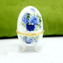preserved flowers High-end gift box Eternal flowers blue and white porcelain imports roses(China)