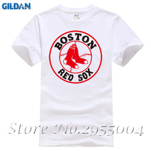 2017 New Summer Fashion Mens O-Neck Design Red Sox T Shirts Plus Size Clothing Short Sleeve Histper T Shirt M-3Xl(China)