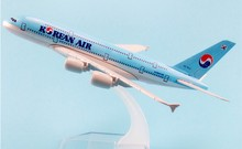 16CM Korean Air A380 Plane Model Aircraft Models Birthday Gift 1:400 Free Shipping Christmas Gift
