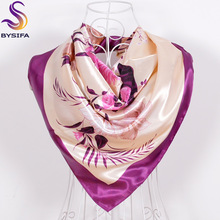 Green Silk Scarf New Arrival Brand Design Satin Big Square Scarf Printed,Women Silk Scarf,China Style Handkerchief 90*90cm