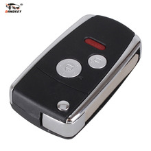 DANDKEY 2+Panic Buttons  Modified Flip Folding Remote Key Shell for HONDA ACCORD CRV CIVIC ODYSSEY Pilot With Logo