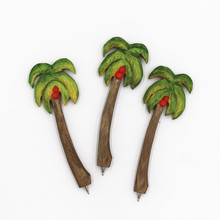 Coloffice Creative Handmade Wood Carving Forest Tropical Plants Coconut Tree Ballpoint Pen Office School Writing Supplies(China)