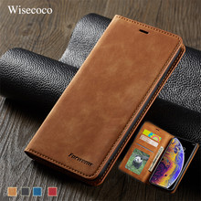 Luxus Leder Magnetic Flip Case für IPhone Xs Xr X Max Wallet Card Slot Halter Stehen Buch Abdeckung für IPhone 8 7 6 6 s Plus Coque(China)