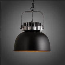 320mm Pendant Barn Lights, Metal Bell Shade with Antique Forged Iron Finish