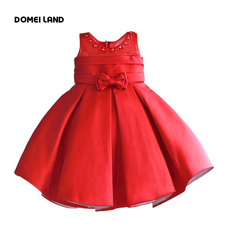 2016 summer fashion baby girl children clothing kids princess cotton bow princess party sleeveless Pleated dress clothes<br><br>Aliexpress