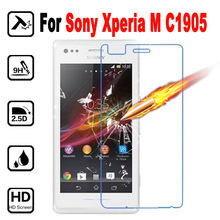 XperiaM Premium Tempered Glass Phone Protective Film cover For SONY Xperia M C1904 C1905 C2004 Screen Protector with Clean Tool