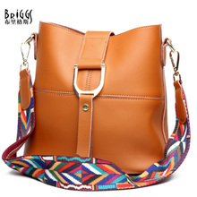 Buy BRIGGS Brand Fashion Composite Bag Solid Genuine Leather Women Shoulder Messenger Bag Colour Woven Strap Crossbody Bag Women for $45.75 in AliExpress store