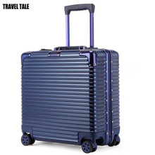 TRAVEL TALE 18 inch Aluminum frame+PC+ABS Classic groove design Luggage Suitcase TSA Lock Computer Case
