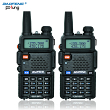 Russian Stock 2PCS Black BaoFeng UV-5R Walkie Talkie Transceiver CB Radio Baofeng UV5R 5W VHF UHF Dual Band Ham Two Way Radio