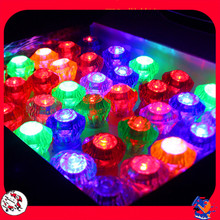 144pcs/lot Children's Day Party Lighting Toys Small Plastic Flashing Diamond Ring Led Glowing Finger Rings,nightclub Gadget