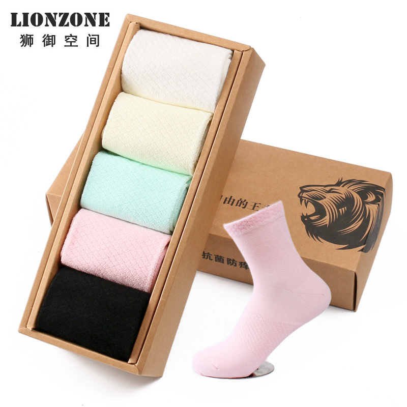 Newly 2017 Linezone Women Socks Candy Color Pure F...