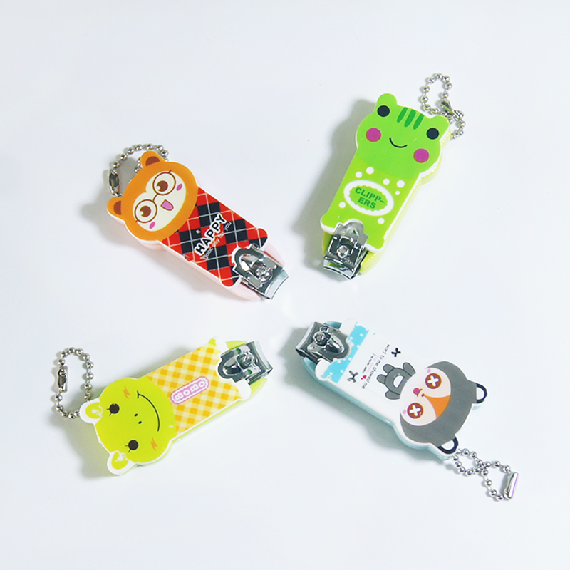 2016 New Lovely Cartoon Nail Clippers Candy Color Nail Cutter Nail Scissors Home Supplies Cute Nail Tool Random delivery(China)