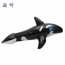 160*50cm Black Whale Shape PVC Inflatable Swimming Rings Swimming Pool Floating Ring Water Boat Seat Beach Toys for Water Sports(China)