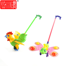 YUSHIXING Hand Push the cock Hand Push the Butterfly Car Baby Toddler Good Helper Children Puzzle Children Toy Car Random color(China)
