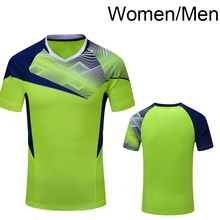 New Sportswear Quick Dry breathable Tennis shirt , Women/Men table tennis clothes team game running Gym Tennis wear 1007