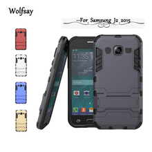 Wolfsay For Samsung Galaxy J2 2015 Case Slim Robot Rubber Case For Samsung Galaxy J2 2015 Case For Samsung J2 2015 J200 Cover !<