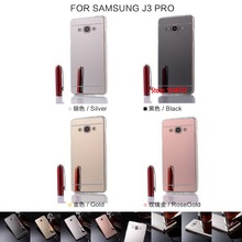 Deluxe Cheap Soft TPU Electroplating Mirror Miror Phone Case For Samsung Galaxy Gelaksi Galasy J3 PRO 2017 Rose Black Gold