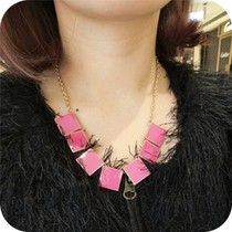 Buy Europe America Foreign Trade Big Names Drop Oil Solid Color Geometric Shape Sweater Chain Pendants Necklace Women Jewelry for $1.37 in AliExpress store