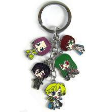 Anime Code Geass Lelouch CC Metal Figures Keychains Pendant Key Chain Key Ring 10pcs/lot
