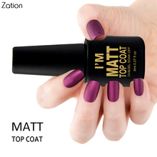 Zation Matte Top Coat Transparent Color 8ml UV Gel Nail Polish Long Lasting Gel Lacquer Matt Top Removable Gel Nail Polish(China)