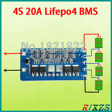 2PCS/ a lot 4S 20A lifepo4 BMS PCM lifepo4 battery protection board electric sprayer battery protection board(China)