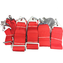 1 set FIA 2020 6 Points 3 inches Racing Safe Belt RACING HARNESS with eye bolt SAB01 (Red,blue,black optional)(China)