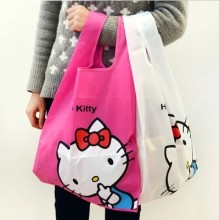 Kawaii Kitty Cat Women's Waterproof Storage Bag.Shoulder Bags.Ladies Hand Bag.Cute Reusable Lunch Supermarket Eco Shopping Bag