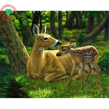Hooby Crafts Sale Diamond Embroidery Animal Deer Diy Diamond Painting Kit Home Decorative Embroidery Pictures rhinestones mugs
