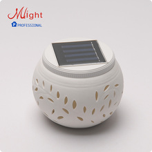 Outdoor LED Solar Lamp Color Changeable Solar Powered Rechargeable Battery Garden Decorative Ceramic Outdoor Solar Light