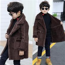 Buy New Fashion lattice high Children Woolen Coat Boys Hot Autumn Winter Fashion Buttons Kids Clothes Woolen coat for $46.66 in AliExpress store