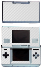 White Carbon Fiber Vinyl Skin Sticker Protector for Nintendo DS NDS Original (fat) skins Stickers(China)