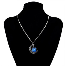 Interstellar Crossing 2017 Necklace Multicolor Star Moon Time Gems Charm Swinging Pendant Necklace For Women Men Jewelry Gift