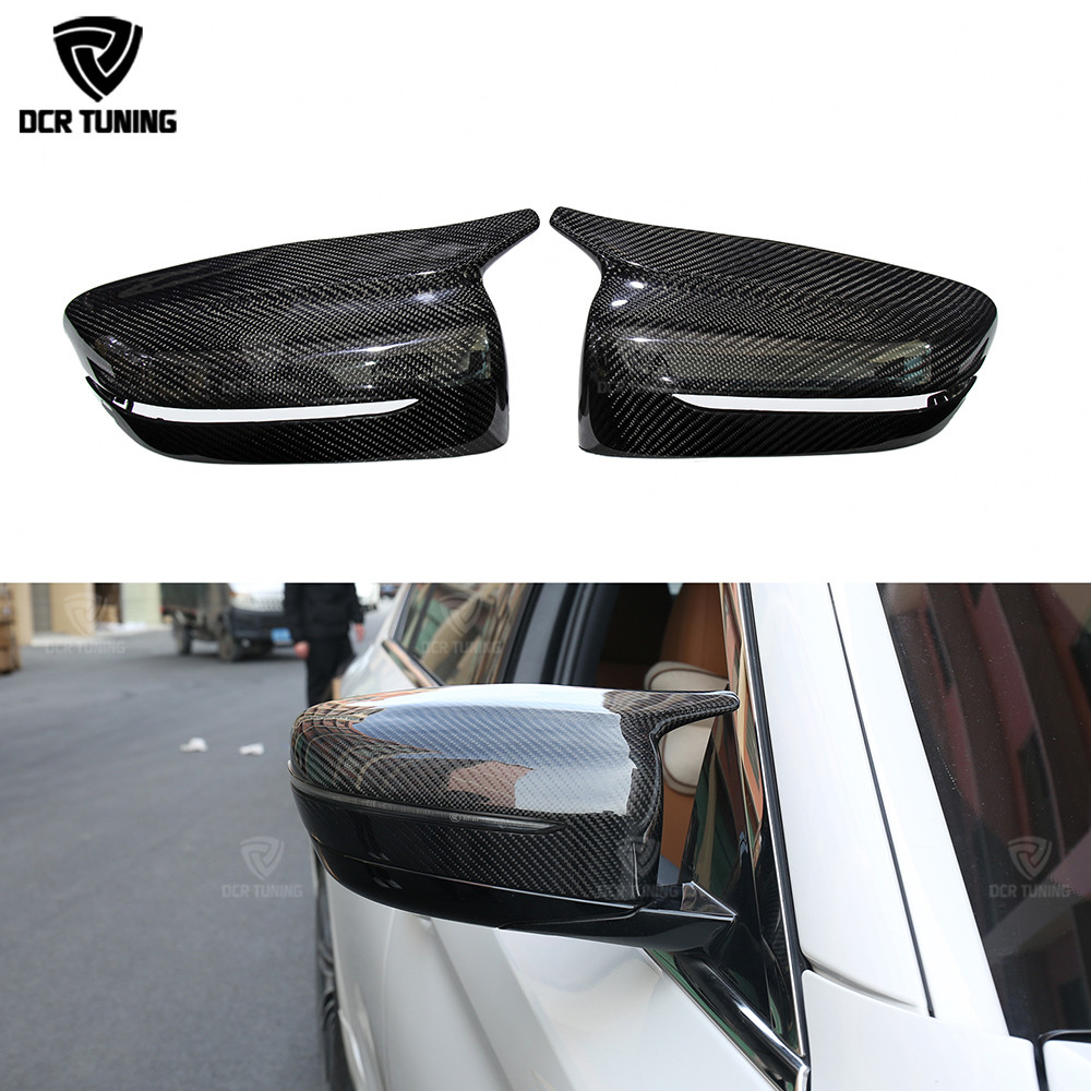 M Look Carbon Fiber Rear View Mirror Cover For BMW 5 Series G30 G38 6 Seies GT G32 7 Series G11 G12 M Performance 2017- UP title=