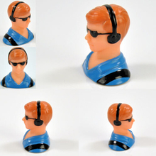 1/10 Scale Figure Pilots Toy Model With Headset Glass for RC Plane Accessories Hobby