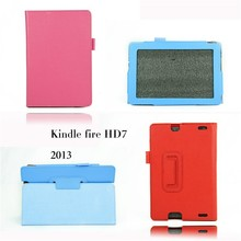 Stand Leather Case For 2013 Amazon Kindle Fire HD 7.0 flip leather cover case+gift screen protectors+touch pen